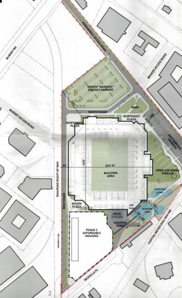 Austin FC stadium site plan