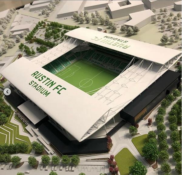 Austin FC stadium scale model