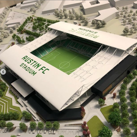 Austin FC stadium scale model