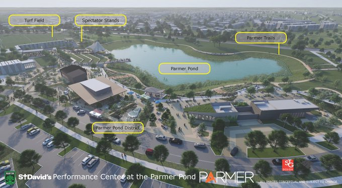 Austin FC training facility located at Parmer Pond