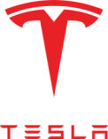 Tesla motors logo in Austin Texas